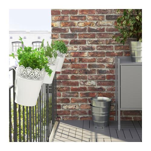 SKURAR pot tanaman dengan penyangga