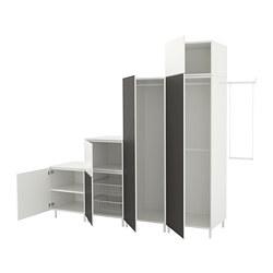 PLATSA - Wardrobe, white Fonnes/Skatval dark grey