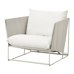 HAVSTEN - Armchair, in/outdoor, beige