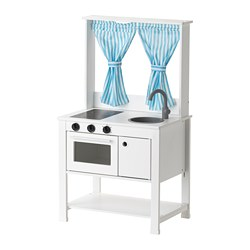 SPISIG - Play kitchen with curtains