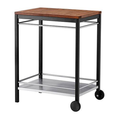 KLASEN - trolley, outdoor, stainless steel/brown stained   IKEA Indonesia - PE340875_S4