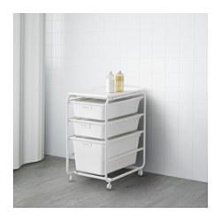 ALGOT - Rangka/3 kotak/rak atas, putih