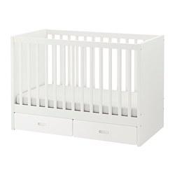 FRITIDS/STUVA - Ranjang bayi dengan laci, putih