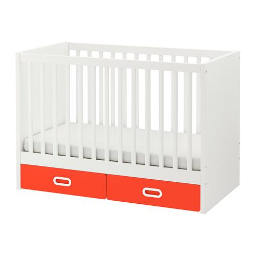 FRITIDS/STUVA ranjang bayi dengan laci