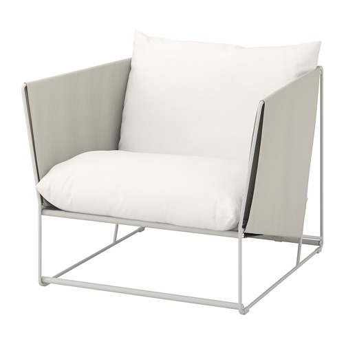 HAVSTEN kursi berlengan, dalam/luar ruang