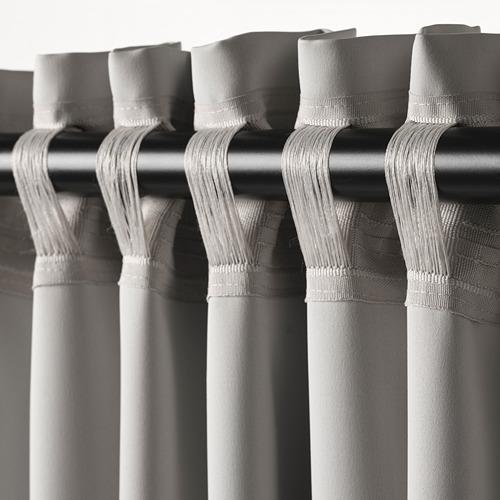 MAJGULL - room darkening curtains, 1 pair, light grey, 145x250 cm | IKEA Indonesia - PE617229_S4