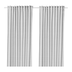 HANNALILL - Curtains, 1 pair, grey