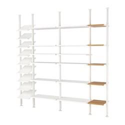 ELVARLI - 4 bagian, putih/bambu