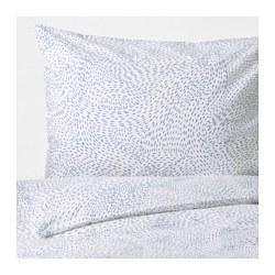 AVSIKTLIG - Sarung quilt dan 2 sarung bantal, aneka warna