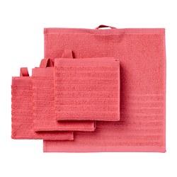 VÅGSJÖN - Handuk kecil, merah cerah, 30x30 cm