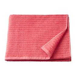 VÅGSJÖN - Bath towel, light red