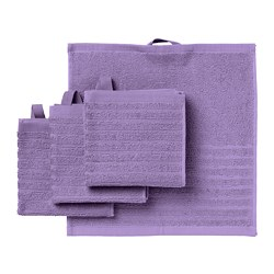 VÅGSJÖN - Washcloth, purple