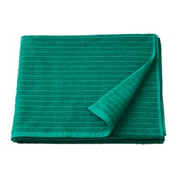 VÅGSJÖN - Bath towel, dark green