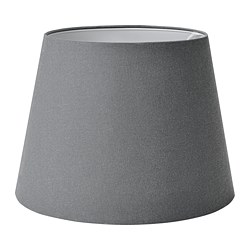 SKOTTORP - Lamp shade, grey