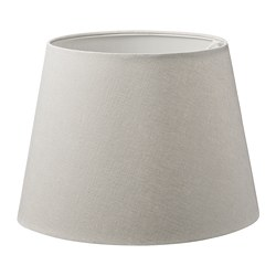SKOTTORP - Lamp shade, light grey
