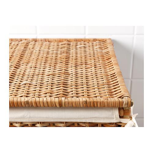 BRANÄS - keranjang laundry dg alas kain, rotan, 80 l | IKEA Indonesia - PE558509_S4