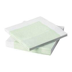 LYSKRAFT - Paper napkin, green