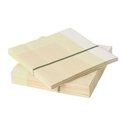 LYSKRAFT - Paper napkin, yellow