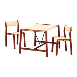 YPPERLIG - Children's table with 2 chairs