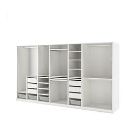 PAX - Kombinasi lemari pakaian, putih