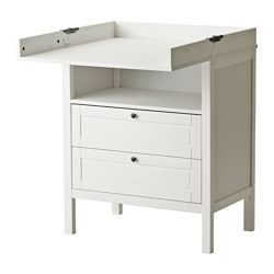 SUNDVIK - Changing table/chest of drawers, white