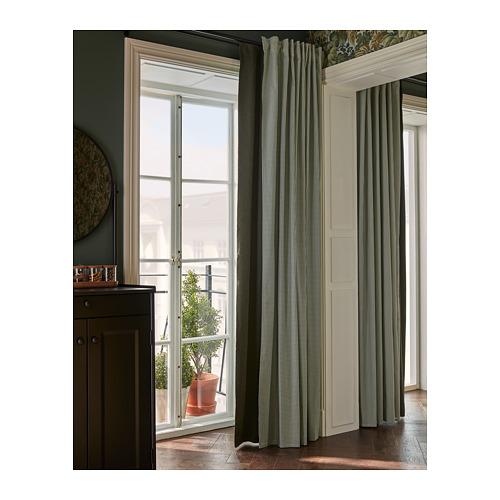 ORDENSFLY - curtains, 1 pair, white/dark grey, 145x250 cm   IKEA Indonesia - PH168350_S4
