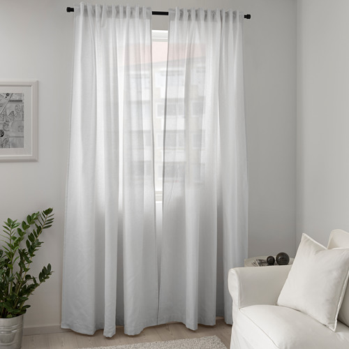 TIBAST - curtains, 1 pair, white, 145x250 cm | IKEA Indonesia - PE658050_S4