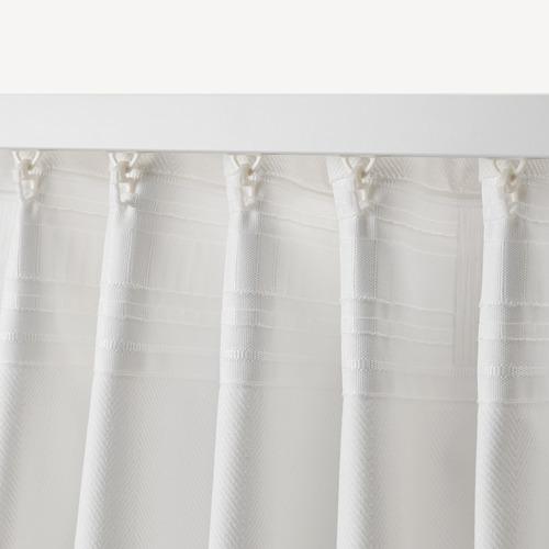 TIBAST - curtains, 1 pair, white, 145x250 cm | IKEA Indonesia - PE658051_S4