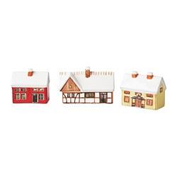 VINTER 2020 - Decoration house, set of 3, mixed colours