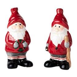 VINTER 2020 - Decoration set of 2, Santa Claus red