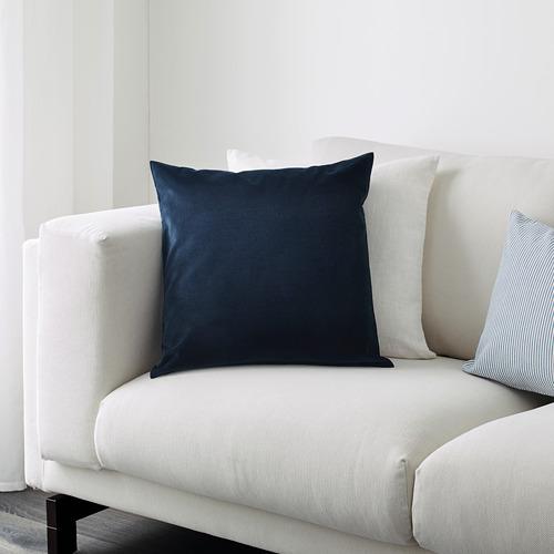 SANELA - sarung bantal kursi, biru tua, 50x50 cm   IKEA Indonesia - PE605624_S4
