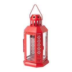 VINTER 2020 - Lantern for tealight, in/outdoor red