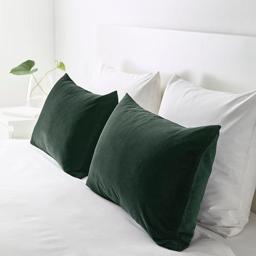 SANELA - sarung bantal kursi, hijau tua, 40x65 cm | IKEA Indonesia - PE682828_S4