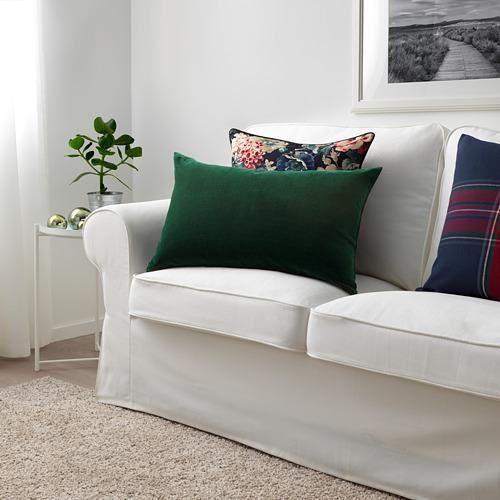 SANELA - sarung bantal kursi, hijau tua, 40x65 cm | IKEA Indonesia - PE682830_S4