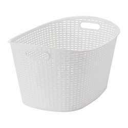 KYFFE - Laundry basket, white