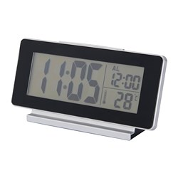 FILMIS - Clock/thermometer/alarm, black