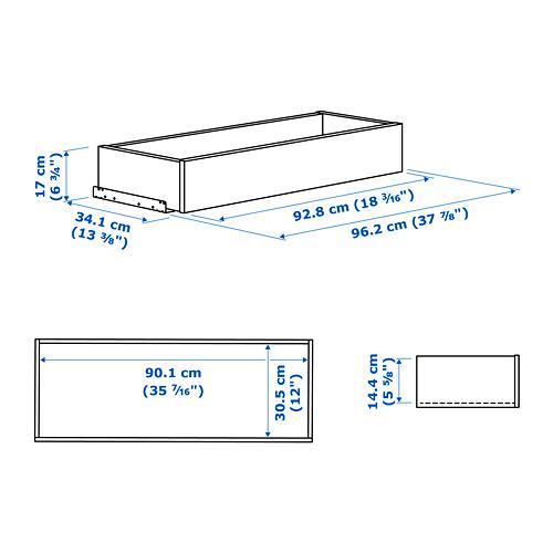 KOMPLEMENT laci dengan bagian depan kaca