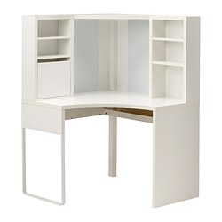 MICKE - Corner workstation, white