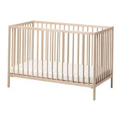 SNIGLAR - Ranjang bayi, kayu birch, 60x120 cm