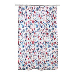 KRATTEN - Shower curtain, white/multicolour