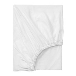 VÅRVIAL - Fitted sheet for day-bed, white