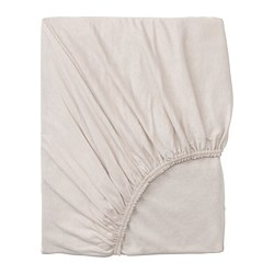 VÅRVIAL - Fitted sheet for day-bed, beige
