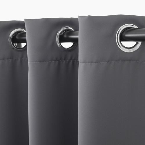 HILLEBORG - gorden anti tembus cahaya, 1 pasang, abu-abu, 145x250 cm   IKEA Indonesia - PE695311_S4