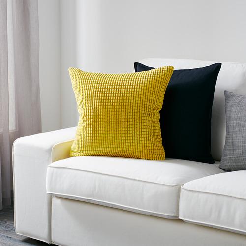 GULLKLOCKA - sarung bantal kursi, kuning, 50x50 cm | IKEA Indonesia - PE567466_S4
