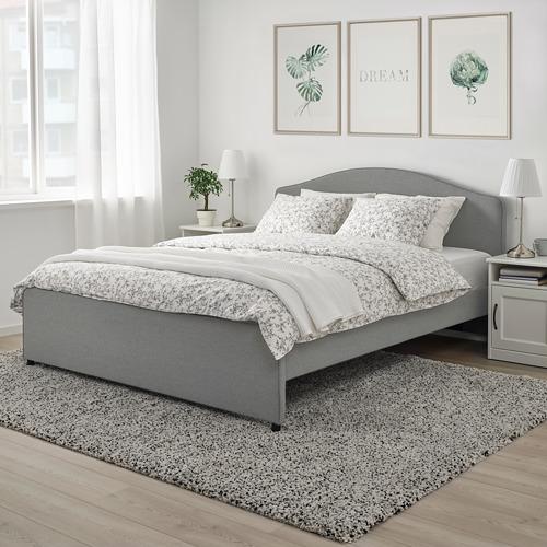HAUGA rangka tempat tidur berpelapis