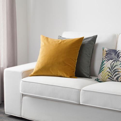 SANELA - sarung bantal kursi, emas-cokelat, 50x50 cm | IKEA Indonesia - PE633589_S4