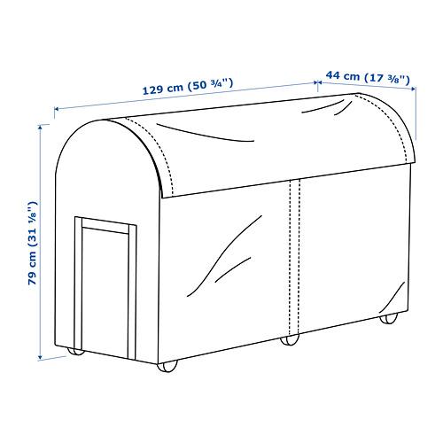 TOSTERÖ kotak penyimpanan, luar ruang