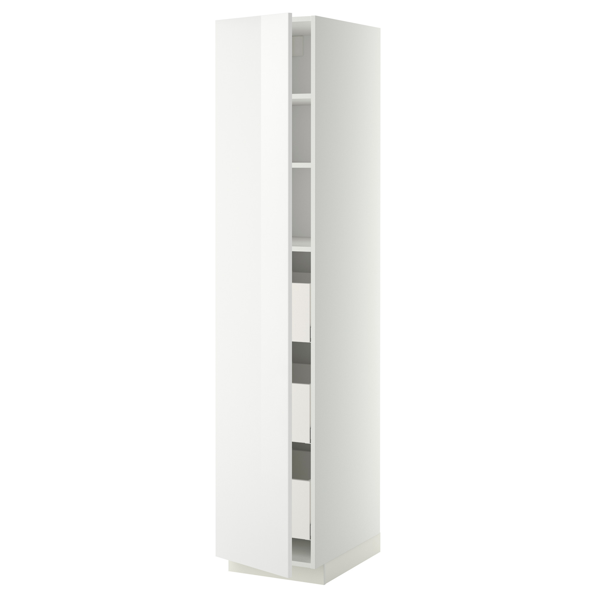 Metod High Cabinet With Drawers White Maximera Ringhult White
