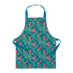 SILVERPOPPEL - Children's apron, bird/multicolour