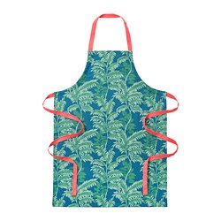 SILVERPOPPEL - Apron, leaf green/dark turquoise